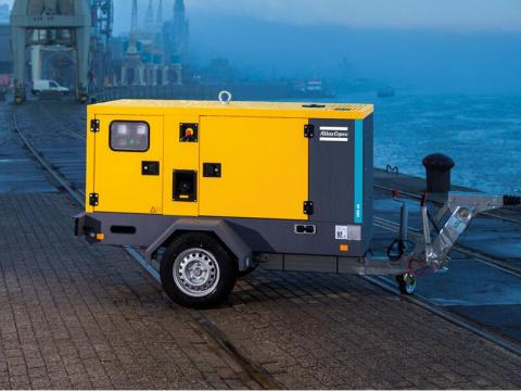 Generador 40 kVA insonorizado con carro de transporte
