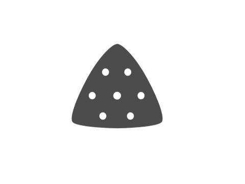 Lijas lijadora punta delta grano 80 93x93x93