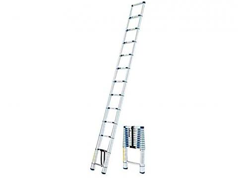 Escalera telescópica plegable